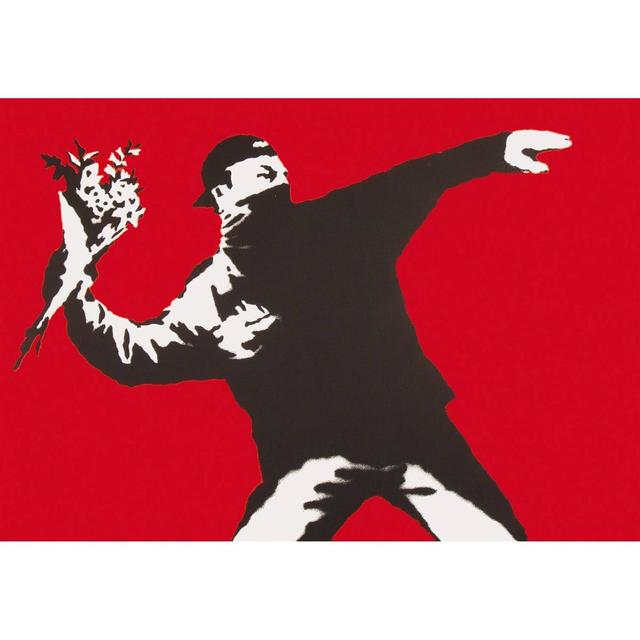 Banksy, 'Love Is In The Air - Flower Thrower ', 2003, Maddox Gallery