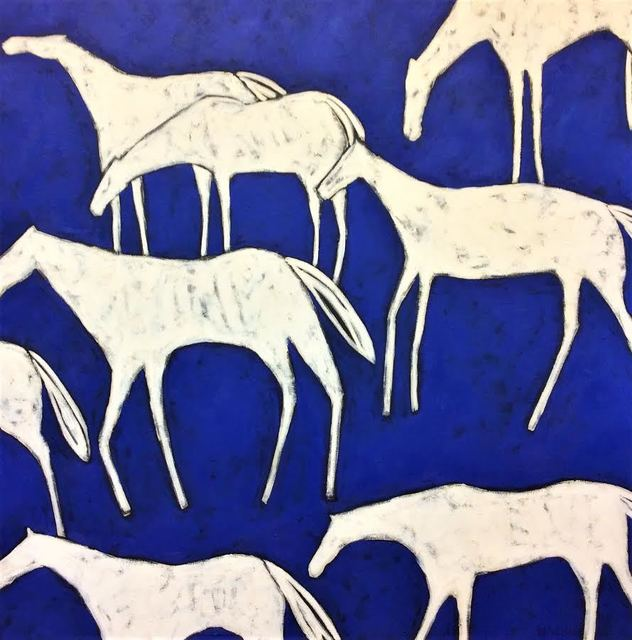 , 'Blue Herd,' 2017, WaterWorks Gallery