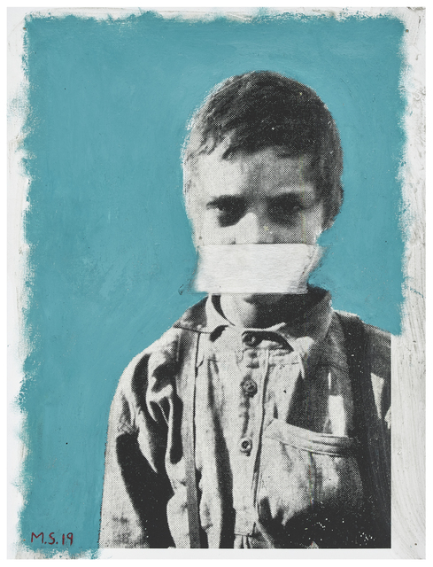 , 'Education and the Poor White (or Boy suffering from Malaria. His whole diet consists of mealiemeal and coffee – all without sugar or milk),' 2019, Goodman Gallery