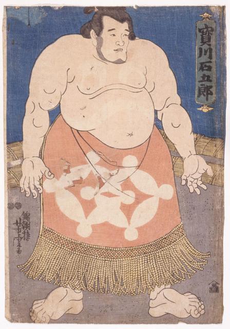 Utagawa Yoshitora, 'The sumō wrestler Takaragawa Ishigorō', about 1850, Print, Color woodblock print, Indianapolis Museum of Art at Newfields