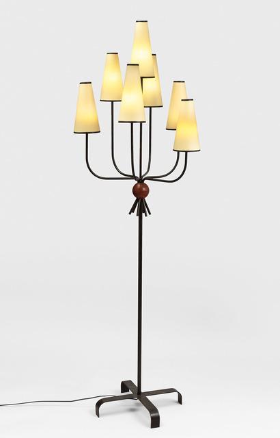 ", '""hirondelle"" floorlamp,' ca. 1950, Galerie Jacques Lacoste"