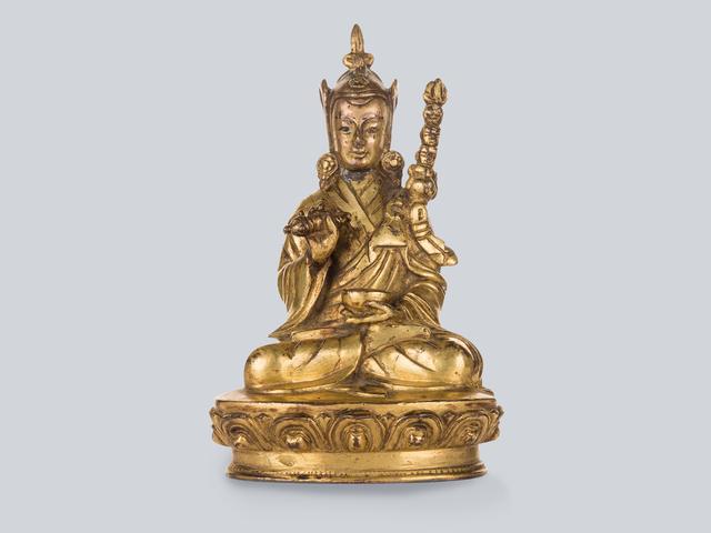 , 'A Gilt Bronze Figure of Padmasambhava, Tibet 17th Century, 16 cm.,' , Arman Antiques Gallery