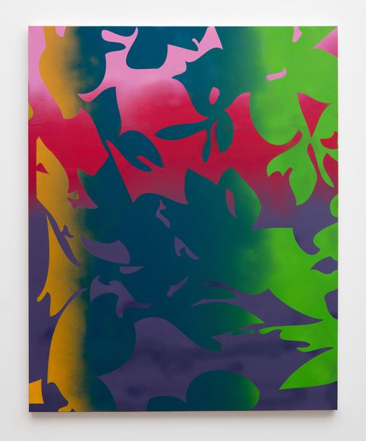 , 'Collision (purple, red, gold, green),' 2015, Erin Cluley Gallery