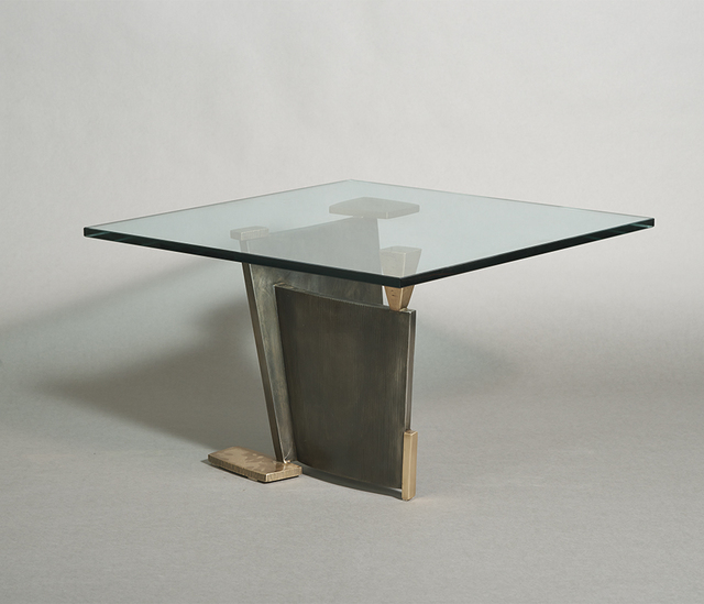 , 'Bronze and Steel Sculptural Low Table,' 2015, Todd Merrill Studio