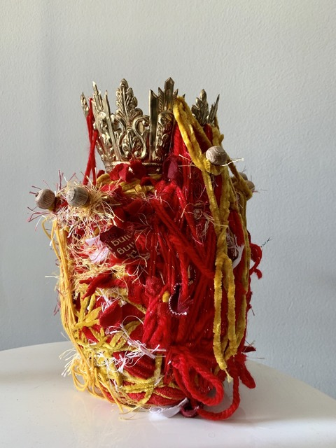 Ged Merino, 'Transitional Object in Red and Gold', 2019, Gallery at Zhou B Art Center