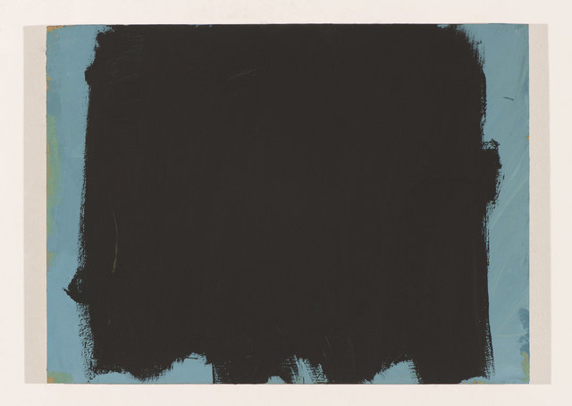 , 'Black Covering Blue Slowly ,' 2015, Howard Scott Gallery