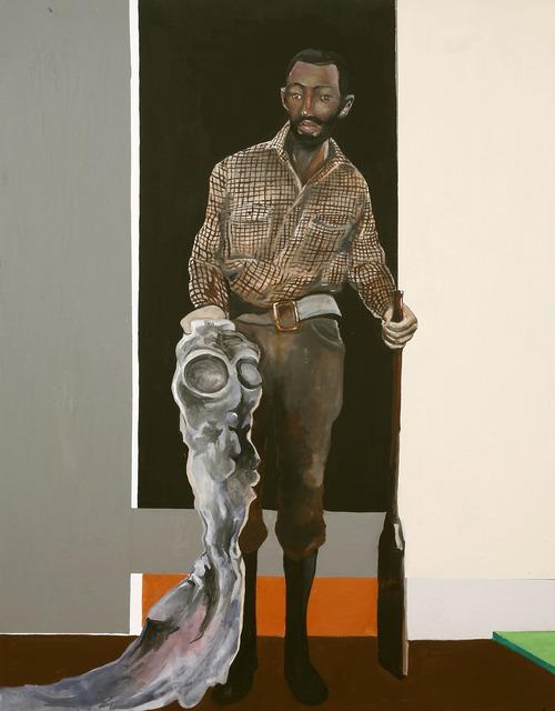 , 'Man with Shotgun and Alien,' 2008, Frye Art Museum