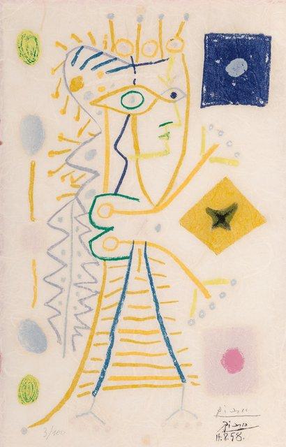 Pablo Picasso, 'Jacqueline', 1958, Print, Lithograph in colors on Japon nacre paper, Heritage Auctions
