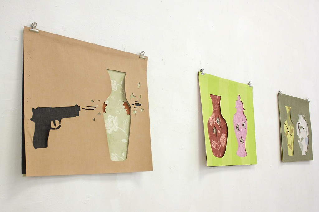 Fragment of exposition with works by Marc Vilallonga