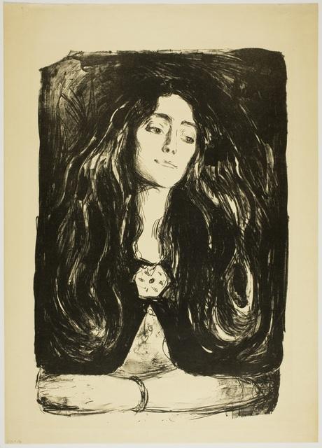 , 'Brosjen. Eva Mudocci (The Brooch, Eva Mudocci),' 1915, Munch Museum