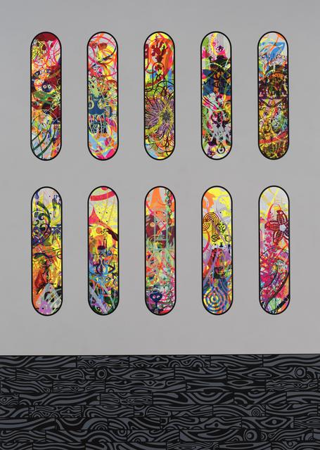 , 'Ten Skateboards (White),' 2017, Quint Gallery