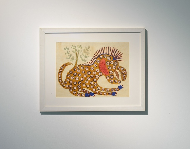 Maria Prymachenko, 'Brown Beast', 1936, Painting, Watercolour on paper, PinchukArtCentre