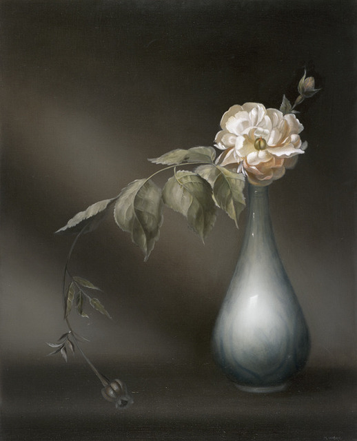 , 'Rose 1 in China Flask,' 2013, Galerie Michael Sturm
