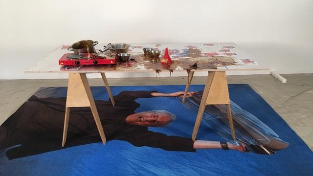 , 'Energy Gummy Worst A-Hole production table #1,' 2014, Galerie Parisa Kind