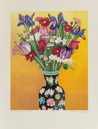 Flowers, Flowered Vase (Oriental Vase)