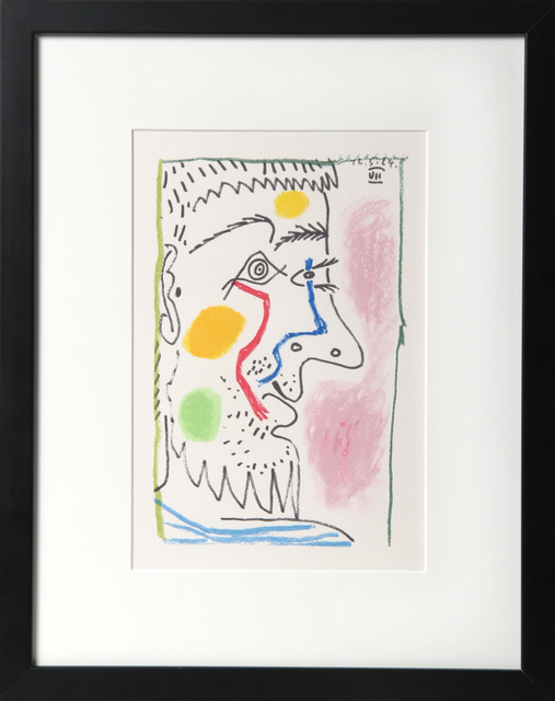 Pablo Picasso, 'Profile VII', 1964, Print, Lithograph on Arches, RoGallery