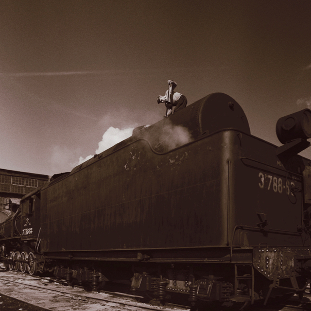 Boris Savelev, 'Alexandrov  steam locomotive', 1978, Photography, Kallitype on silver print, °CLAIRbyKahn Galerie