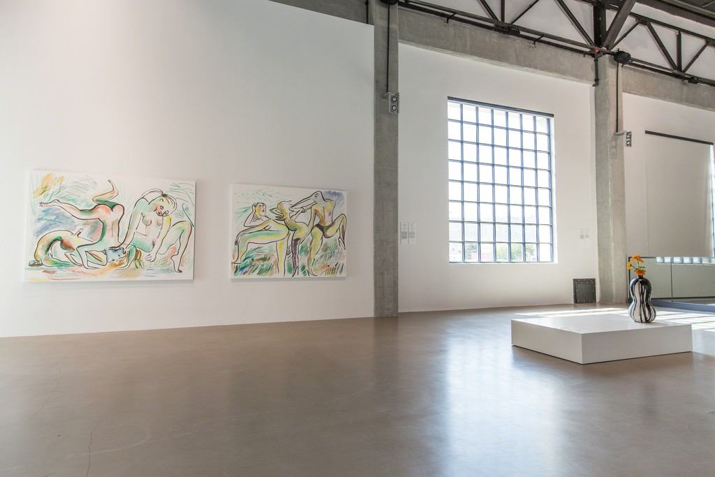 "Installation view of Camille Henrot at ""The Heart is a Lonely Hunter,"" YARAT Contemporary Art Centre, Baku, Azerbaijan, 25 September 2015 – 9 January 2016."