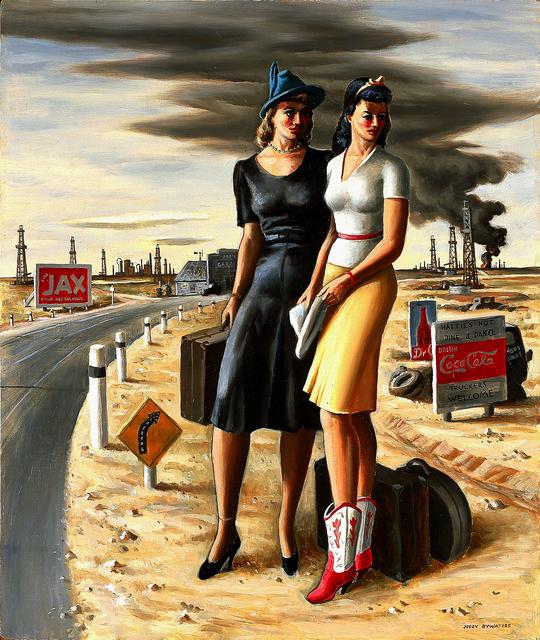 Jerry Bywaters, 'Oil Field Girls', 1940, Blanton Museum of Art
