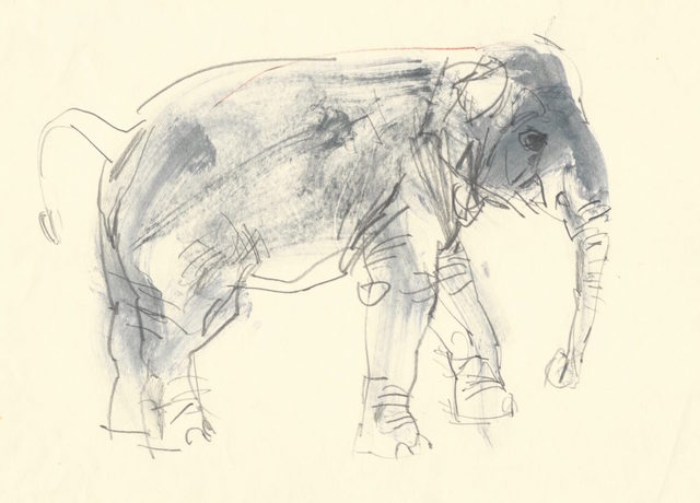 , 'Elephant I,' ca. 1985, Robert Eagle Fine Art