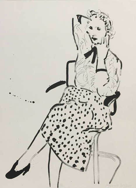 David Hockney, 'Celia with polka dot skirt', 1980, Belgis-Freidel Fine Art, Ltd.