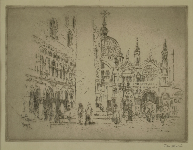 John Marin (1870-1953), 'Piazza San Marco, Venice', 1907, Private Collection, NY