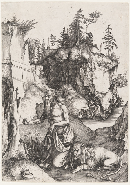 Albrecht Dürer, 'St. Jerome Penitent in the Wilderness', 1496, Christopher-Clark Fine Art