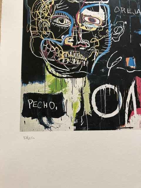 Graffiti art print Basquiat artwork Jean Michel Basquiat urban art Modern wall art Basquiat canvas Jean-Michel Basquiat Pecho Oreja