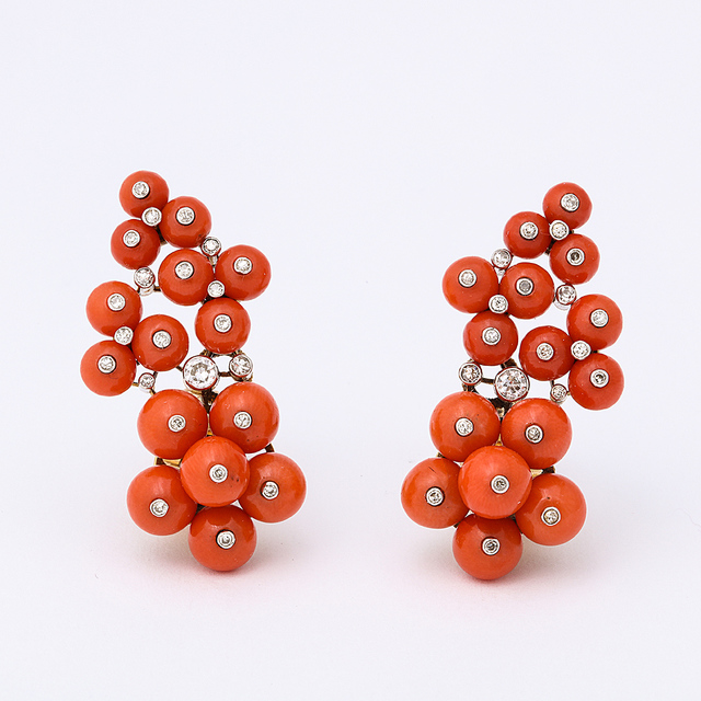 , 'Pair of Earrings,' 1930, A La Vieille Russie