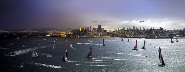 , 'Day to Night, America's Cup, San Francisco,' 2013, Bryce Wolkowitz Gallery