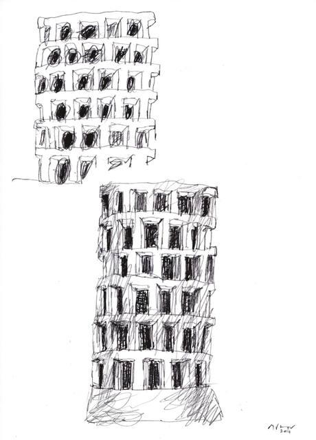 , 'Schizzo per Edifici Vuoti,' 2014, Galleria Punto Sull'Arte