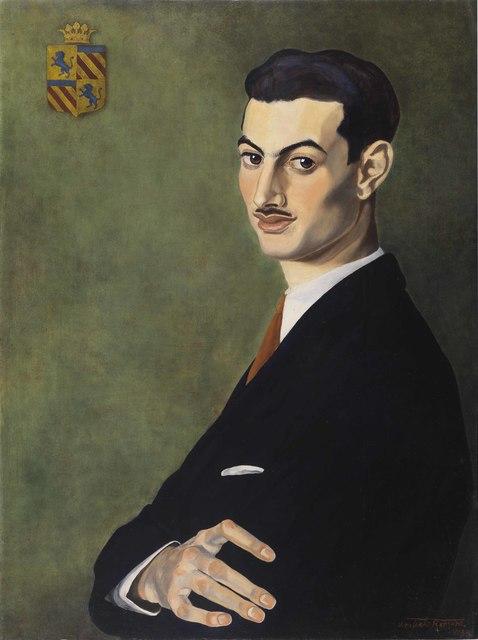 Umberto Romano, 'Portrait of Adolfo Caracciolo di Castagneto', 1938, Painting, Oil on canvas, Antonacci Lapiccirella Fine Art