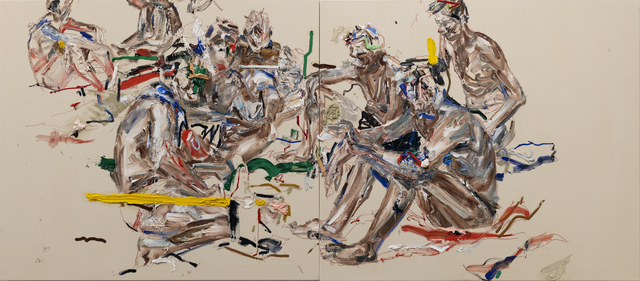 John Copeland, 'Paradox Valley Blues', 2019, Painting, Oil on raw canvas (diptych), V1 Gallery