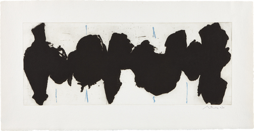 Robert Motherwell, 'Running Elegy II, Blue State,' 1983, Phillips: Evening and Day Editions (October 2016)