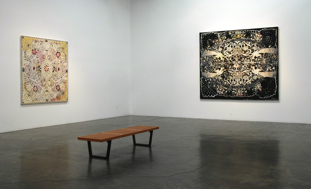 "Installation view of Robert Rahway Zakanitch, ""From Ordinary Miracles,"" at Samuel Freeman, May 2010."