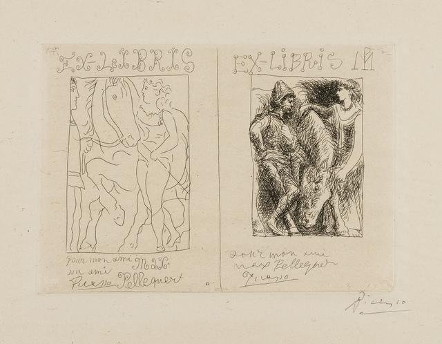 Pablo Picasso, 'Deux Ex Libris (Bloch 131, Baer 198 Ba)', 1930, Forum Auctions