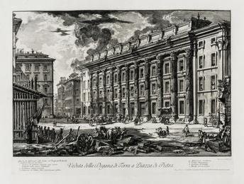 Veduta della Dogana di Terra a Piazza di Pietra, from: Vedute di Roma