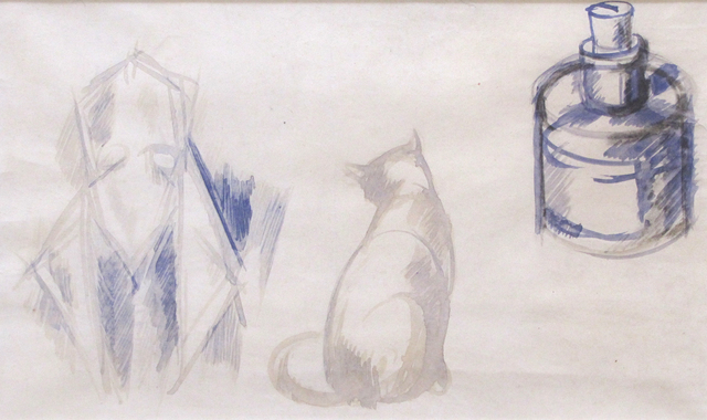 , 'Poet and Cat, Homage to the Poet Roffy,' ca. 1909, The Scottish Gallery