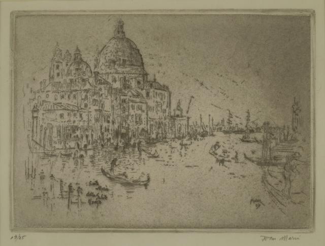 John Marin, 'Santa Maria della Salute, Venice', 1907, Private Collection, NY