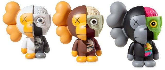 KAWS, 'Dissected Milo (black, brown, white)', 2011, BC Gallery