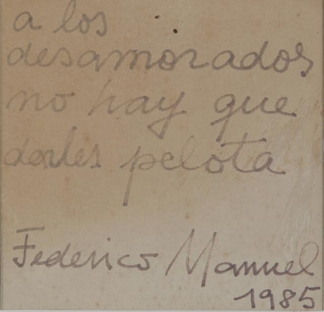 , 'A los desamorados no hay que darles pelota,' 1985, Cosmocosa
