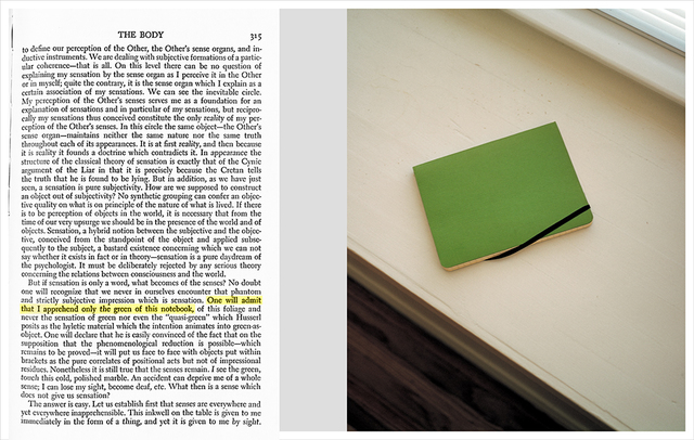 , 'The Green of This Notebook,' , Maccarone