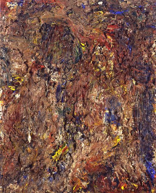 , 'Toile rousse avec couple,' 1996, Daniel Blau