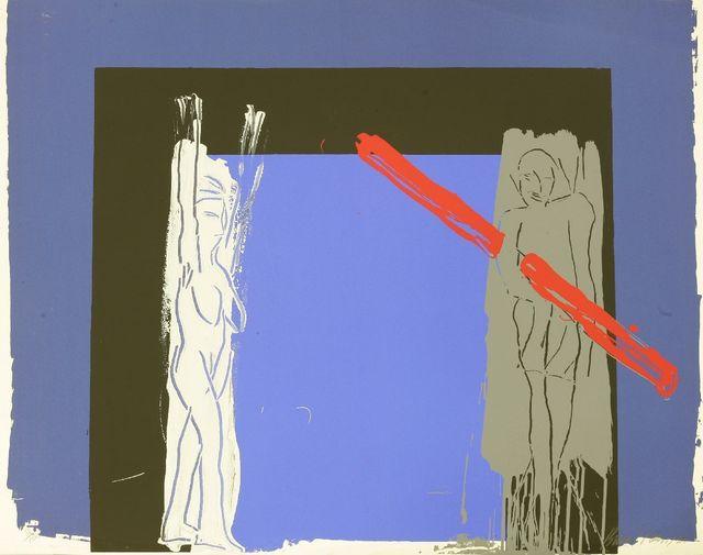Bruce McLean, 'White Man, Grey Man and Red Lino', 1985, Print, Screenprint in colours, Sworders