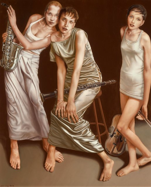Lui Liu, 'Three Musicians', 1999, Heritage Auctions