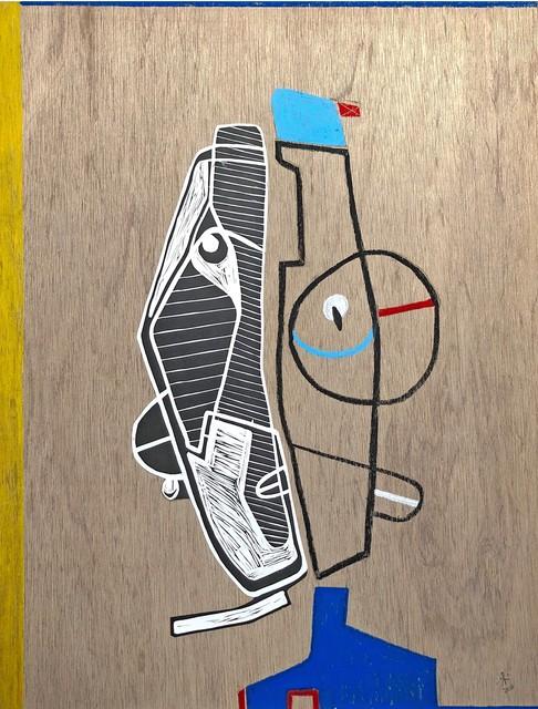 Renée Rossouw, 'Popeye II', 2020, Painting, Mixed media on wood, WORLDART