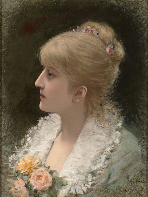 , 'Portrait of a Young Woman,' 1882, M.S. Rau Antiques