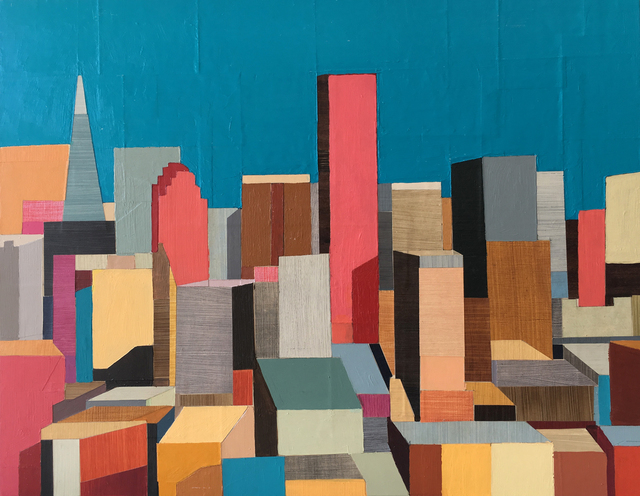 , 'San Francisco: Abstracted Panorama,' 2014, Sue Greenwood Fine Art