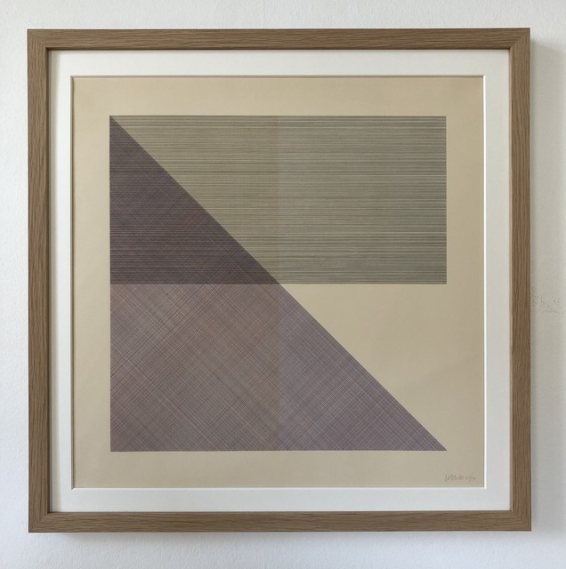 Sol LeWitt, 'Eight Squares with a Different Color in Each Half Square (Divided Horizontally and Vertically), plate #4', 1980, inch&cm