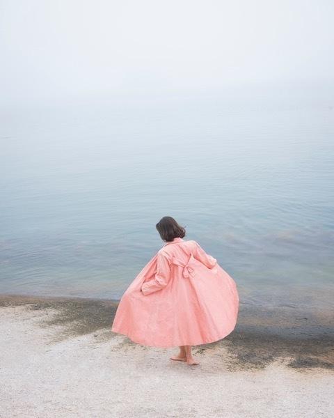 , 'Jesse in the Fog, Pink Coat,' 2018, Robert Mann Gallery